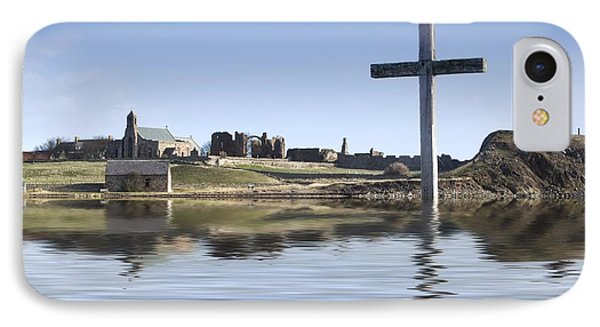 Cross In Water, Bewick, England Phone Case by John Short