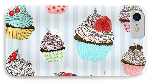 Cupcake  IPhone Case by Setsiri Silapasuwanchai