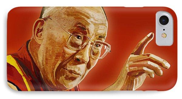 Dalai Lama IPhone Case by Setsiri Silapasuwanchai