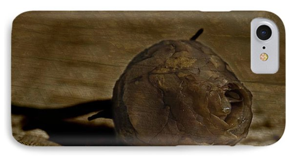 IPhone Case featuring the photograph Dead Rosebud by Steve Purnell