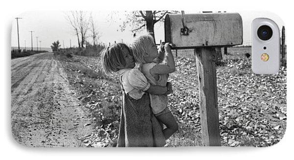 Depression Era Rural America IPhone Case by Photo Researchers