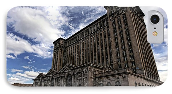 Detroit's Abandoned Michigan Central Station Phone Case by Gordon Dean II