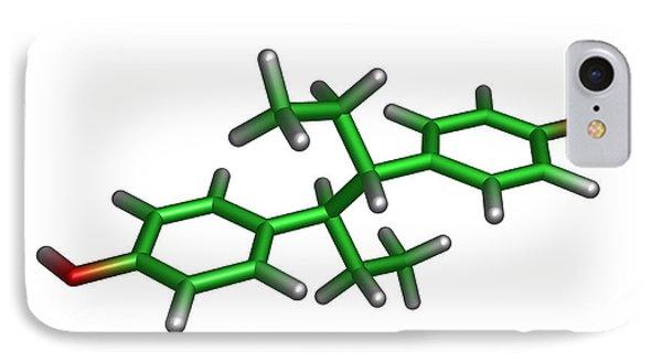 Diethylstilbestrol Drug Molecule Phone Case by Dr Tim Evans