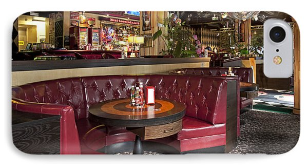 Dining Booth In An American Style Diner Phone Case by Jaak Nilson