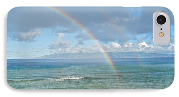 IPhone Case featuring the photograph Double Rainbow In Maui by Kirsten Giving