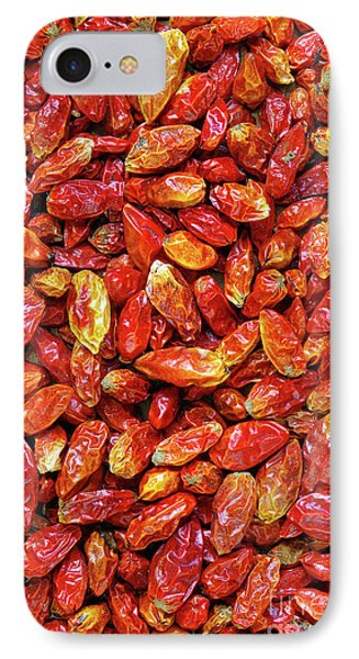 Dried Chili Peppers Phone Case by Carlos Caetano