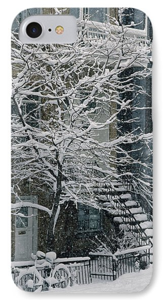 Drolet Street In Winter, Montreal IPhone Case by Yves Marcoux
