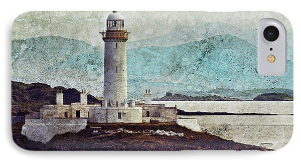 Eilean Musdile Lighthouse  IPhone Case by Ray Devlin