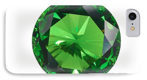 Emerald Isolated Phone Case by Atiketta Sangasaeng
