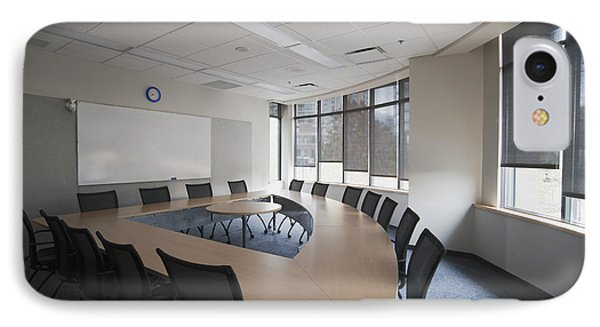 Empty Boardroom Or Meeting Room In An Phone Case by Marlene Ford