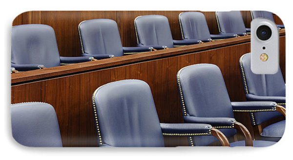 Empty Jury Seats In Courtroom Phone Case by Jeremy Woodhouse