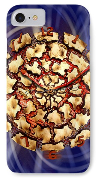 Exploding Clock IPhone Case by Mike McGlothlen