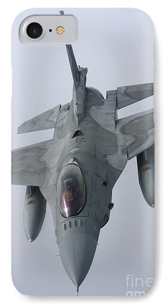 F-16 Fighting Falcon Of The Polish Air IPhone Case by Daniel Karlsson