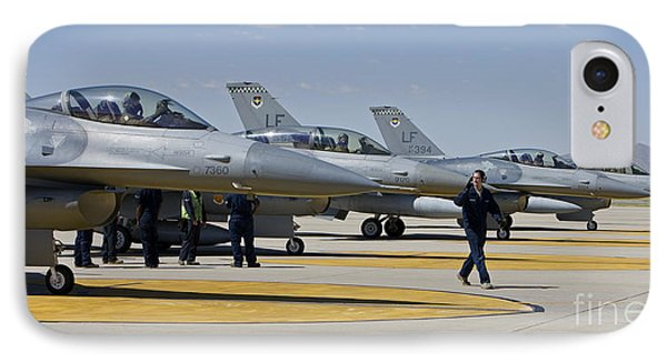 F-16 Pilots Work With Crew Chiefs Phone Case by HIGH-G Productions