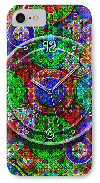 Faces Of Time 3 Phone Case by Mike McGlothlen