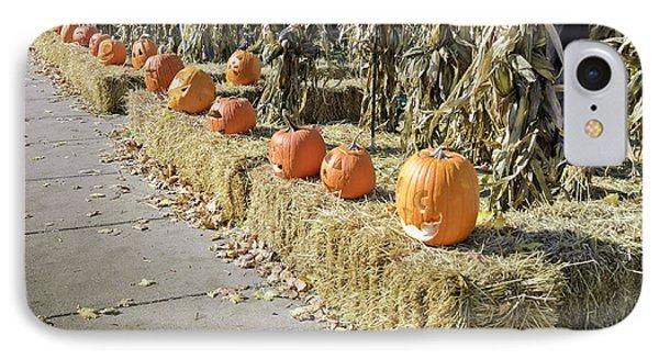 Fall  Halloween On Tillson Street Phone Case by LeeAnn McLaneGoetz McLaneGoetzStudioLLCcom