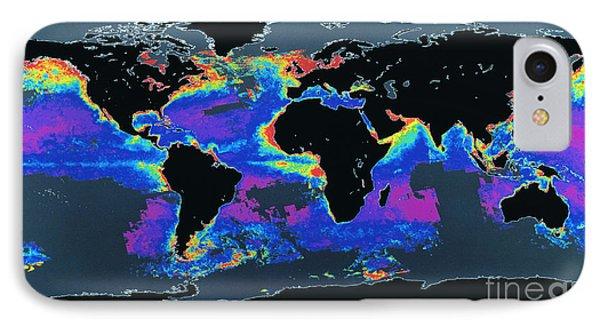 False-col Satellite Image Of Worlds Phone Case by Dr. Gene Feldman, NASA Goddard Space Flight Center