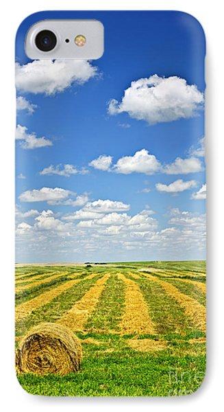 Farm Field At Harvest In Saskatchewan Phone Case by Elena Elisseeva