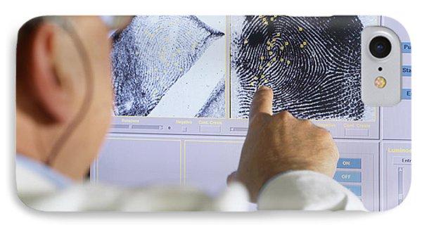 Fingerprint Analysis Phone Case by Mauro Fermariello