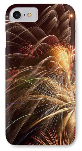 Fireworks In Night Sky IPhone Case
