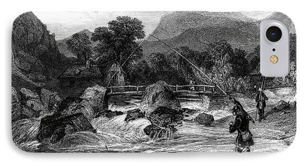 Fishing, 19th Century Phone Case by Granger