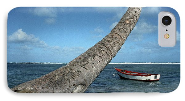 Fishing Boat And Palm Trunk Phone Case by Thomas R Fletcher