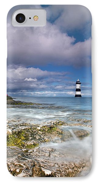 IPhone Case featuring the photograph Fishing By The Lighthouse by Beverly Cash