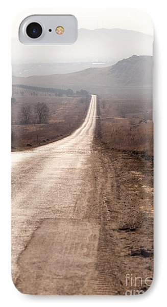 Foggy Road In Dobrogea Phone Case by Gabriela Insuratelu