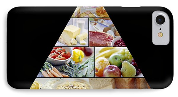 Food Pyramid Phone Case by David Munns