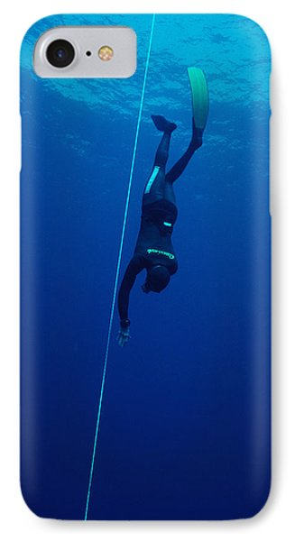 Free-diving Competitor IPhone Case by Alexis Rosenfeld