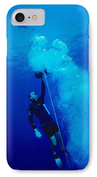 Freediver Ascending IPhone Case by Alexis Rosenfeld