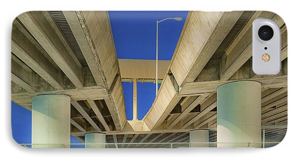 Freeway Overpass Support Structure At Night Phone Case by Eddy Joaquim
