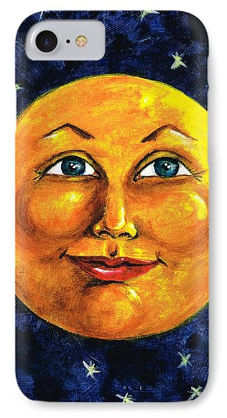 IPhone Case featuring the painting Full Moon by Sarah Farren