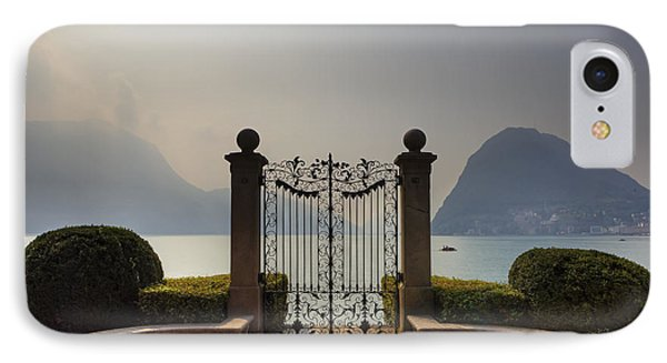Gateway To The Lake Of Lugano IPhone Case by Joana Kruse