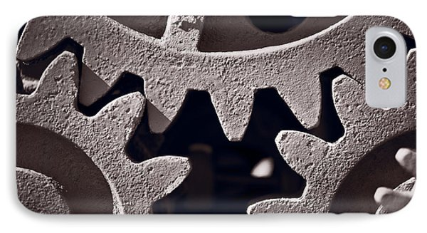 Gears Number 2 Phone Case by Steve Gadomski