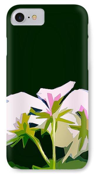 Geranium 3 Phone Case by Pamela Cooper