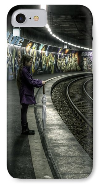 Girl In Station Phone Case by Joana Kruse