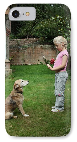 Girl Playing With Dog Phone Case by Mark Taylor