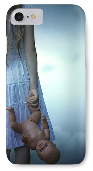Girl With Baby Doll Phone Case by Joana Kruse