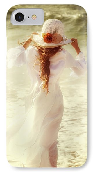 Girl With Sun Hat IPhone Case