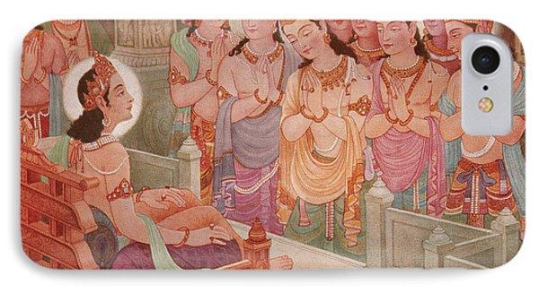 Gods Entertaining Mahavira Phone Case by Photo Researchers