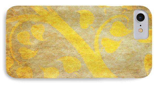 Golden Tree Pattern On Paper Phone Case by Setsiri Silapasuwanchai