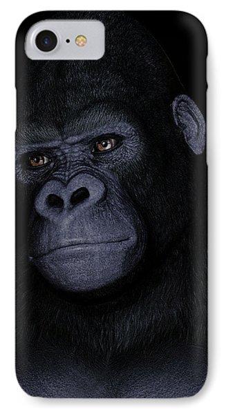 Gorilla Portrait Phone Case by Maynard Ellis