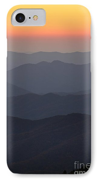 Great Smokie Mountains At Sunset IPhone Case by Dustin K Ryan