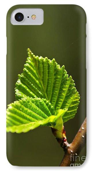 Green Spring Leaves Phone Case by Elena Elisseeva