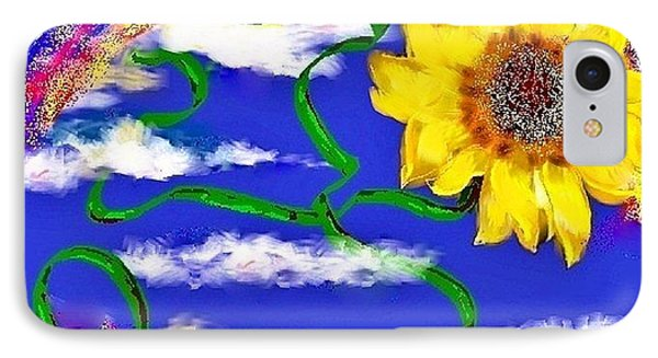 IPhone Case featuring the drawing Happiness Is A Sunflower by Lori  Lovetere