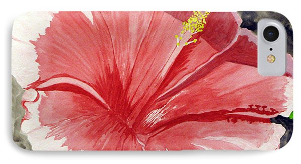 IPhone Case featuring the painting Happy Hibiscus by Debi Singer