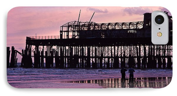 Hastings Pier After The Fire IPhone Case by Dawn OConnor