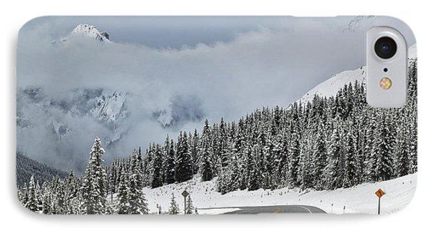 Highway 40 In Winter, Highwood Pass Phone Case by Darwin Wiggett