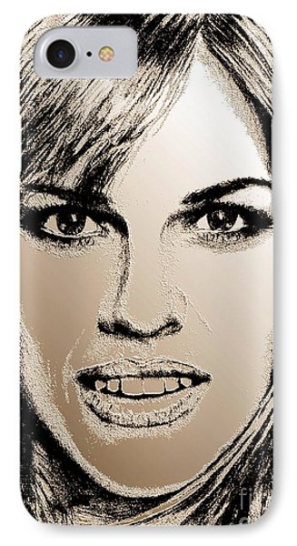 Hilary Swank In 2007 Phone Case by J McCombie